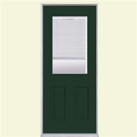 Half Lite Exterior Door Masonite 32 In X 80 In Half Lite Painted Steel Prehung Front Door With No Brickmold 39202