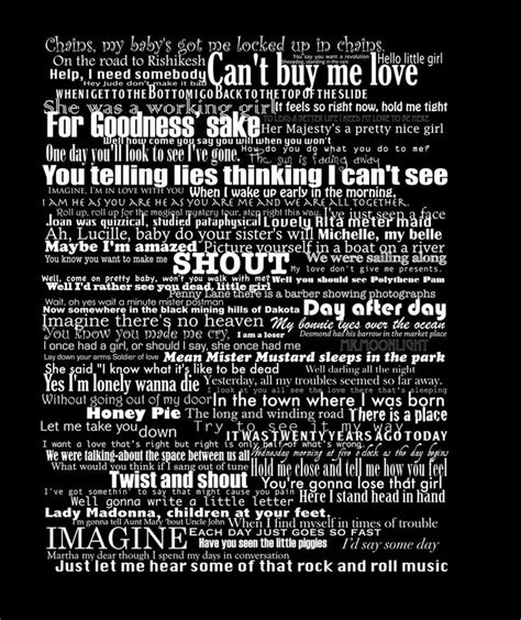 beatles lyrics 17 best images about beatles are on