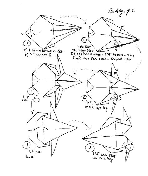 printable origami turkey instructions anita barbour origami