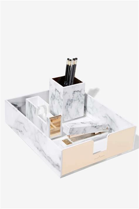 marble desk accessories best 25 office desk accessories ideas on gold