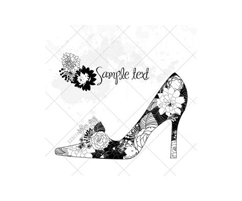 pictures of beautiful high heel shoes beautiful high heel shoe vector with floral pattern high