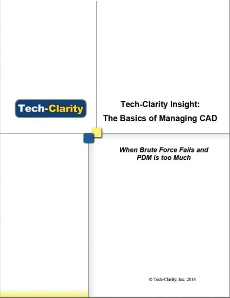cad tech the basics of managing cad tech clarity