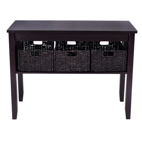 rectangular square end tables with storage black coffee table with storage baskets baskets in black