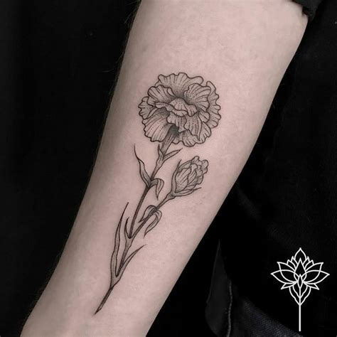 20 wonderful carnation tattoo designs page 2 of 2