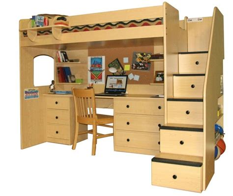 Loft Bed With Desk Underneath by Loft Beds With Desk Underneath And Staircase With Drawers