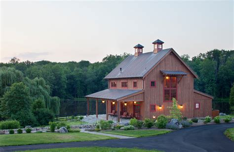 pole barn house designs exterior rustic with board and