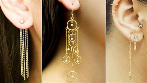 Chain Earring line chain earrings gold plated fashion drop dangle