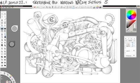 sketchbook pro resolution wip sketchbook pro wacom intuos 5 by keith0186 on
