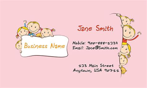 babysitting card template nanny business card design 1101011