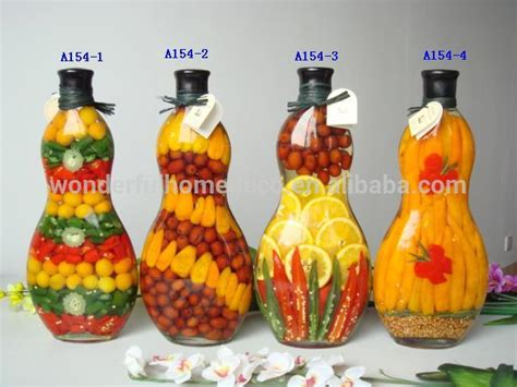 decorative bottles with vegetables inside popular kitchen decoration glass bottles peppers buy