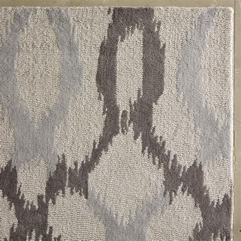 ikat bath rug ikat links wool rug gray west elm