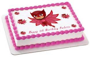 pj masks 4 owlette edible cake topper amp cupcake toppers edible prints on cake epoc