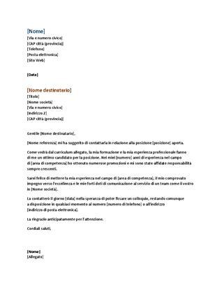 modello lettere di presentazione lettera di presentazione per curriculum funzionale