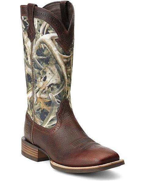 camo cowboy boots ariat quickdraw camo cowboy boots square toe sheplers