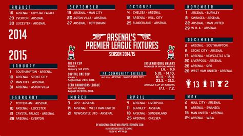 epl arsenal fixtures arsenal football club fixtures results arsenal no1