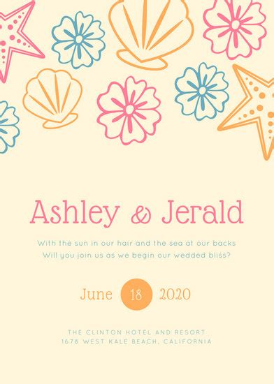 Colorful Wedding Invitations by Customize 104 Wedding Invitation Templates
