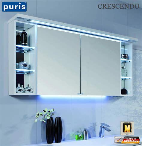 spiegelschrank puris puris crescendo led spiegelschrank 140 cm s2a431426l