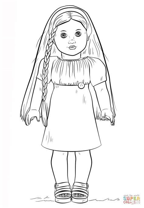 American Julie Coloring Pages American Girl Doll Julie Coloring Page Free Printable