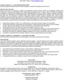 executive administrative assistant resume exle 4