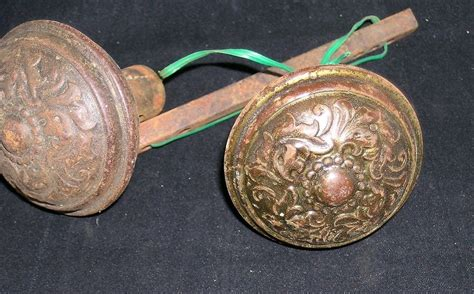 antique pair ornate door knobs vintage ebay