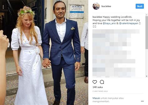 film romantis perancis ario bayu resmi menikahi aktris cantik asal perancis