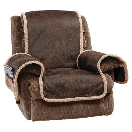 vintage leather recliner furniture cover brown sure fit