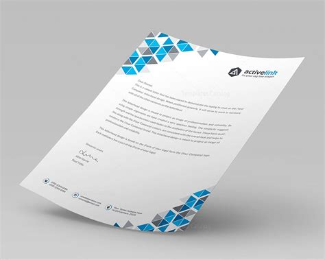 corporate template premium corporate letterhead template 000093 template