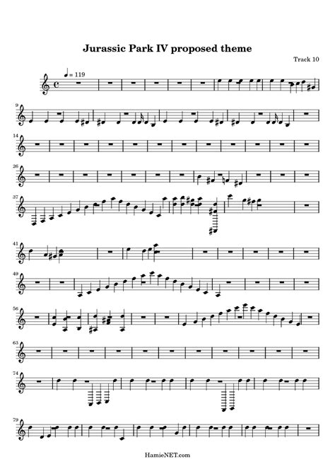 theme music to jurassic park jurassic park iv proposed theme sheet music jurassic