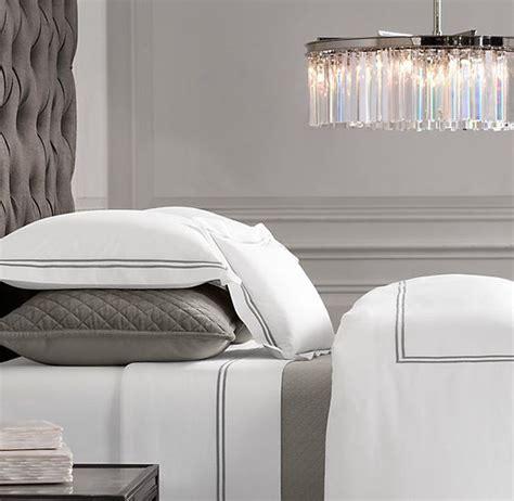 Italian Hotel Collection Duvet Dream Bedding Italian Hotel Satin Stitch Bedding White