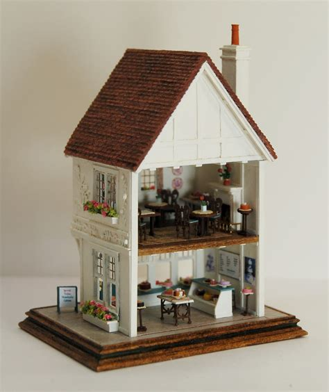 s dollhouse tea room miniature miniatures nell corkin wildflour cakes and tea room