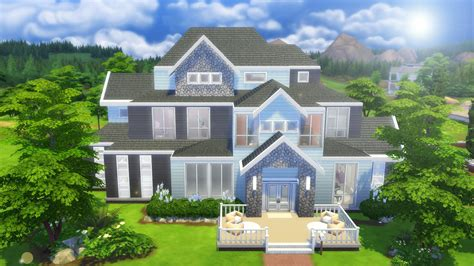 4 family homes the sims 4 speed build large family home youtube