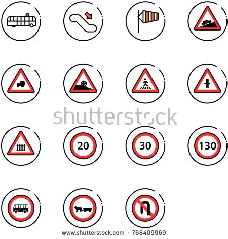 signs at escalator railway stock images, royalty free