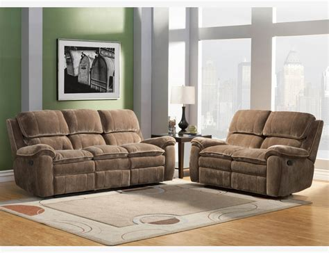 Tufted Living Room Furniture by Brown Microfiber Dual Reclining Sofa Loveseat Tufted