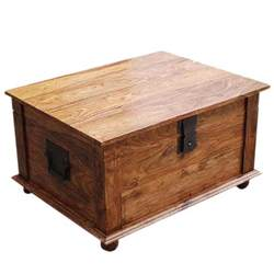 nevada solid wood coffee table storage trunk