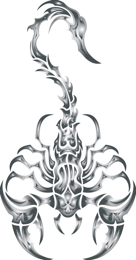 clipart sleek tribal scorpion steel
