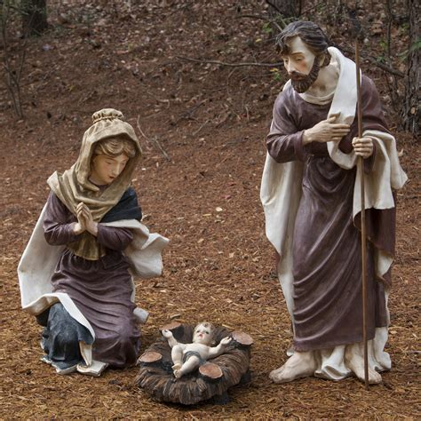 3 piece holy family christmas outdoor set outdoor decorations