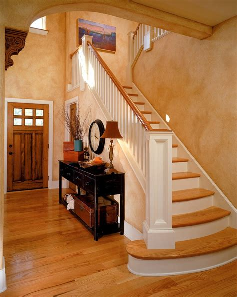 Transitional Dining Room Sets foyer table ideas entry traditional with wood railing faux