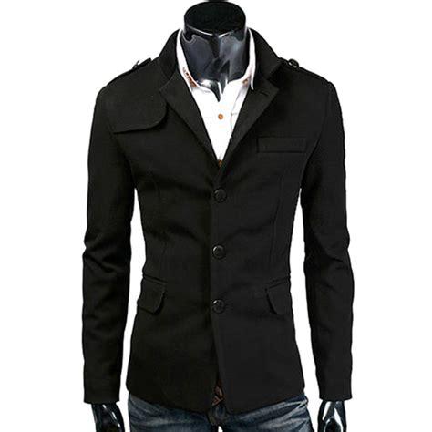 Blazer Pria Jas Pria Grey Stylish fashion top quality woolen mens casual blazers slim
