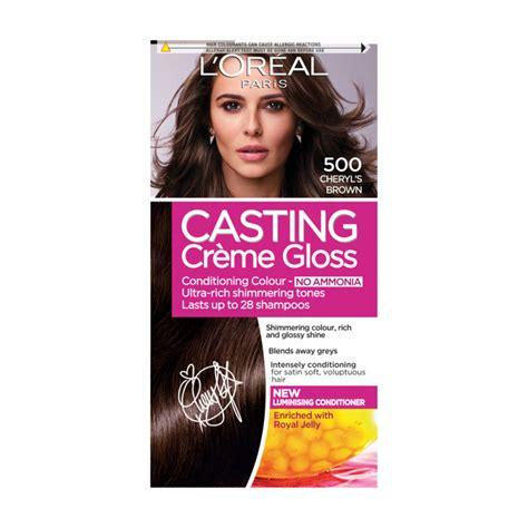 loreal semi permanent hair color l oreal creme gloss 500 medium brown semi