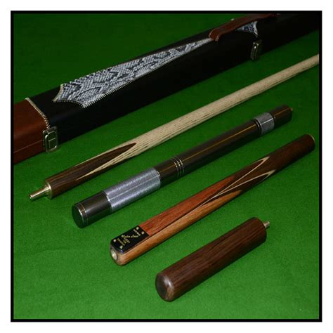 Handmade Pool Cues Uk - handmade 4 zebra wood inlayed ash snooker pool cue