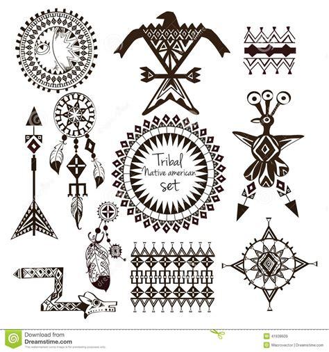 tribal native american set stock vector image of headband