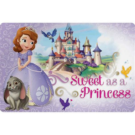 Sofia the First Kids Plastic Placemats by Zak!