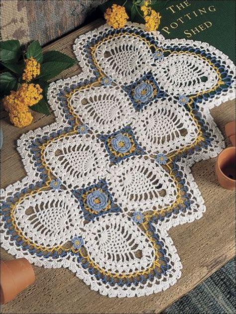 Garden Doily Flower Garden Pineapple Doilies Crochet Pinapple Table