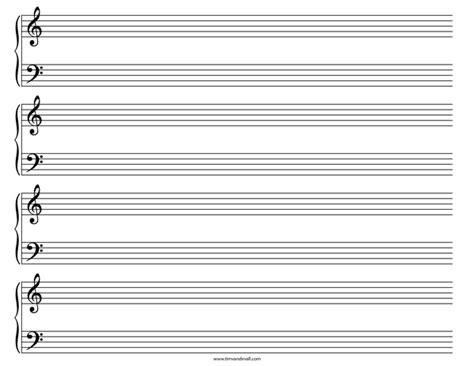 printable staff paper template grand staff paper templates for musicians and songwriters
