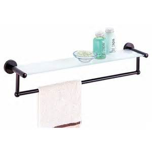 towel bar with shelf bathroom shelf with towel bar rubbed bronze walmart