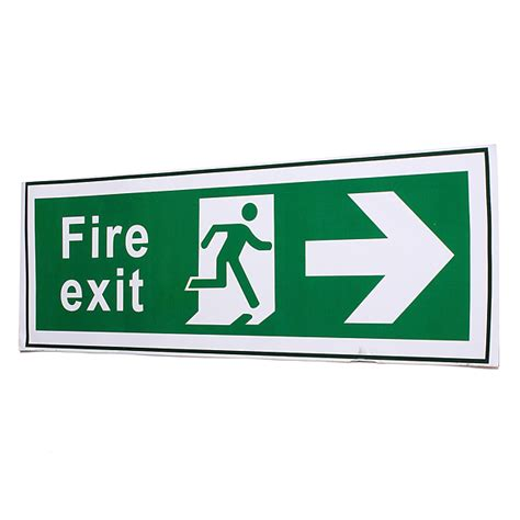 Lu Emergency Lazada waterproof emergency exit stickers decal sign all