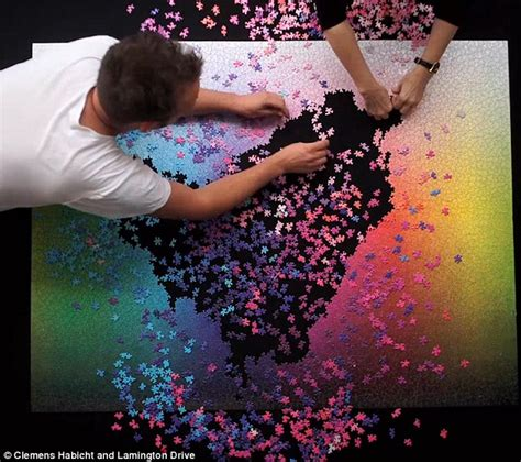 cmyk puzzle 5000 time lapse video shows 5 000 piece jigsaw being completed