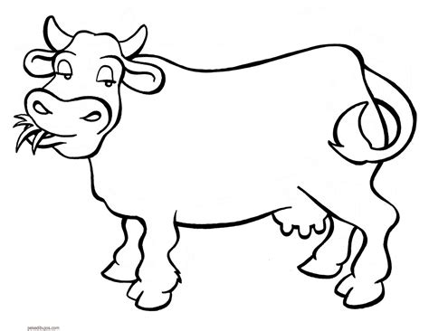dibujos para colorear de patos vaca para imprimir