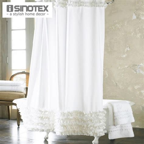 elegant bathroom shower curtains home decoration bathroom shower curtain waterproof moldproof solid polyester fabric