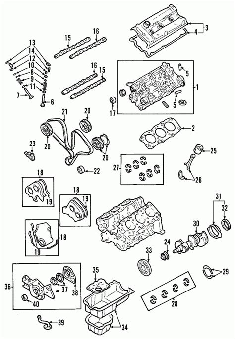 2002 kia sedona engine diagram automotive parts diagram